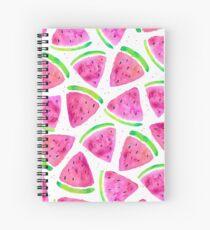 Cute Watercolour Watermelons Spiral Notebook
