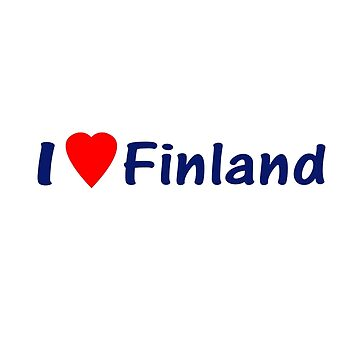 I Love Finland - Country Code FI T-Shirt & Sticker by deanworld