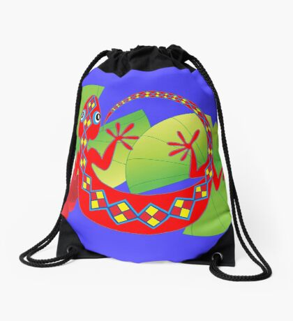 Connection to the Spirit World (Lizard)  Drawstring Bag