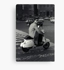 Scooterman Rome Canvas Print