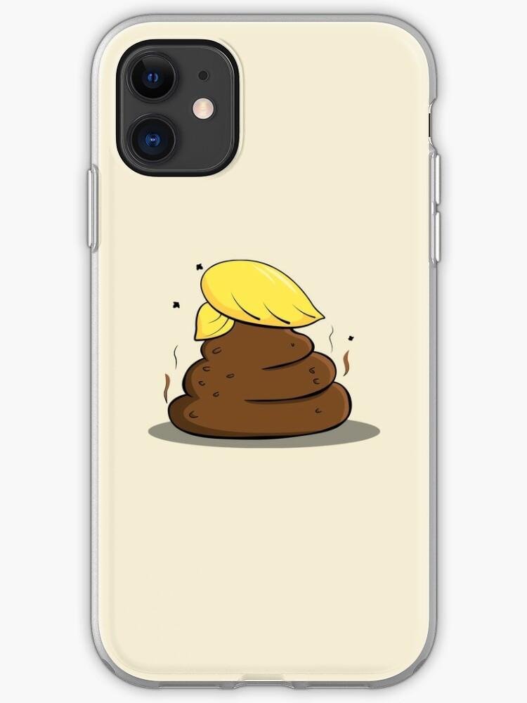 poop donald trump iphone case