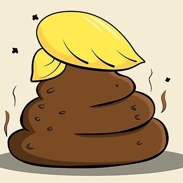 Donald Trump Poop Cartoon by rideawave