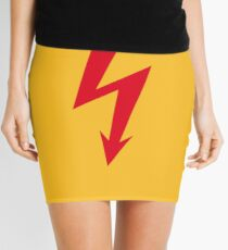 Flash / Blitz / Éclair / Rayo / Fulmine (Red) Mini Skirt