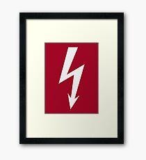 Flash / Blitz / Éclair / Rayo / Fulmine (White) Framed Print