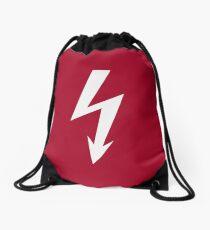 Flash / Blitz / Éclair / Rayo / Fulmine (White) Drawstring Bag