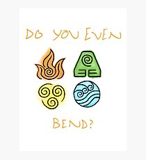 Do you even bend? Photographic Print