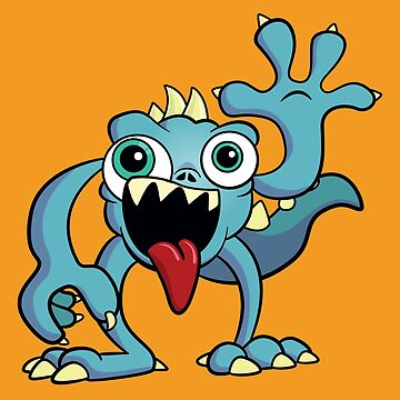 Cartoon Monster - Cute, funny illustration by rideawave