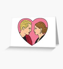 Buffy the Vampire Slayer and Spike  Greeting Card