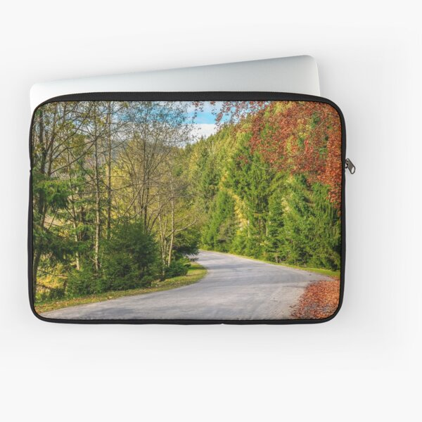 road through the forest in mountains Laptop Sleeve