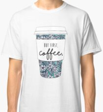 Floral Coffee Classic T-Shirt