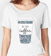 Floral Coffee Women's Relaxed Fit T-Shirt