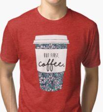 Floral Coffee Tri-blend T-Shirt