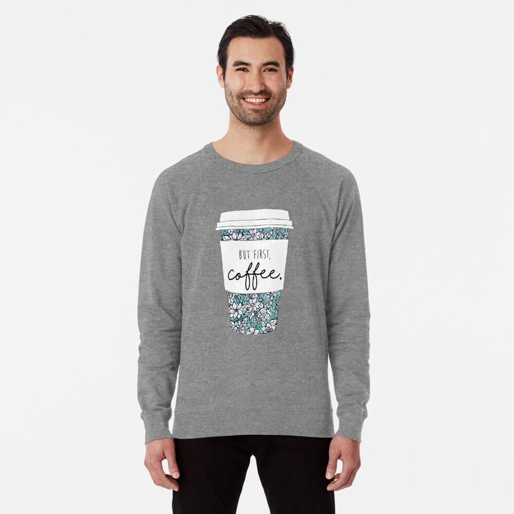 Floral Coffee Lightweight Sweatshirt