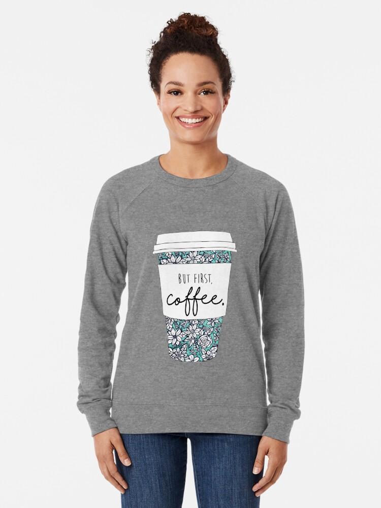 Alternate view of Floral Coffee Lightweight Sweatshirt