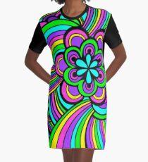 Flowerpower T-Shirt Kleid