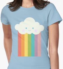 Proud rainbow cloud Womens Fitted T-Shirt
