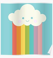 Proud rainbow cloud Poster