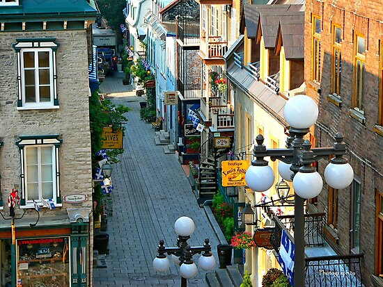 Quaint Petit-Champlain Street, Quebec City by Yannik Hay