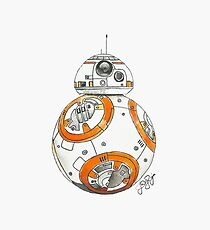 BB-8 Watercolor Photographic Print