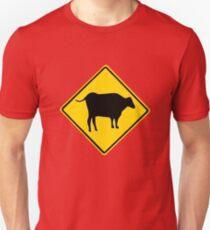 BULL CROSSING ROAD  SIGN  Unisex T-Shirt