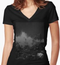 In My Dark Place (Where I Never Feared to Drown) Women's Fitted V-Neck T-Shirt