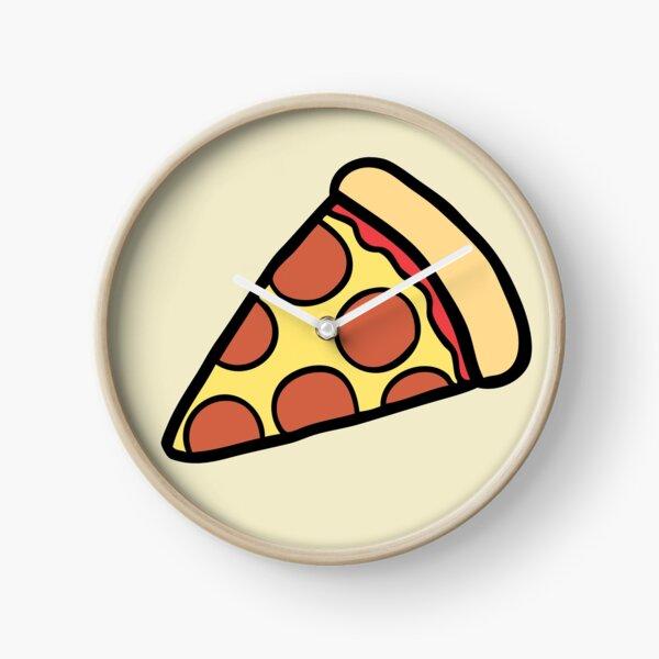 Pepperoni Pizza Pattern Clock