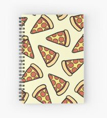 Pepperoni Pizza Pattern Spiral Notebook
