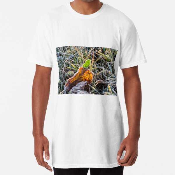 yellow and green foliage in the grass Long T-Shirt