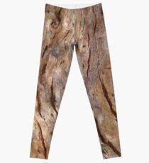BARK, WOOD, Texture, Cracked, Tree, Nature, Natural Leggings