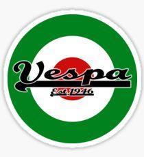 Team Vespa Italian Flag MOD Target Sticker