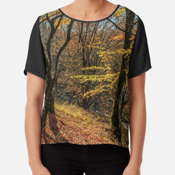 autumn forest in foliage Chiffon Top