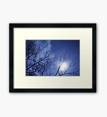 Light it all blueway Framed Print