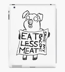 Eat less meat, Save my bacon! iPad Case/Skin