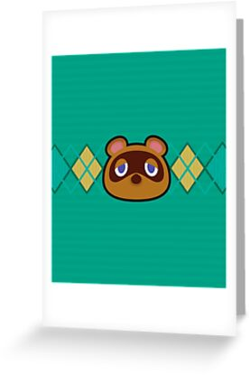 Tom nook animal crossing greeting cards by purplepixel redbubble tom nook animal crossing by purplepixel m4hsunfo Images