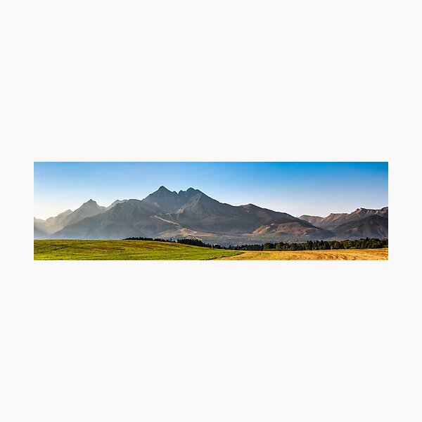 rural field in Tatra mountains Photographic Print
