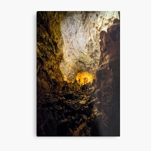 cave with colourful textured walls Metal Print