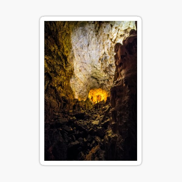 cave with colourful textured walls Sticker