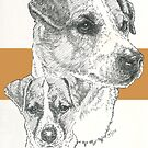 Jack Russell, smooth coat, Father & Son by BarbBarcikKeith