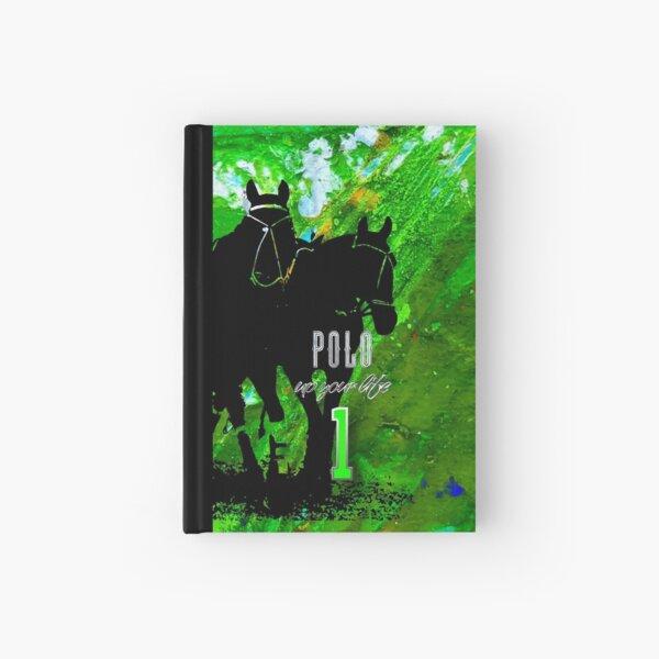 polo horses green Hardcover Journal