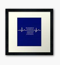 Programmer heartbeat shirt Framed Print