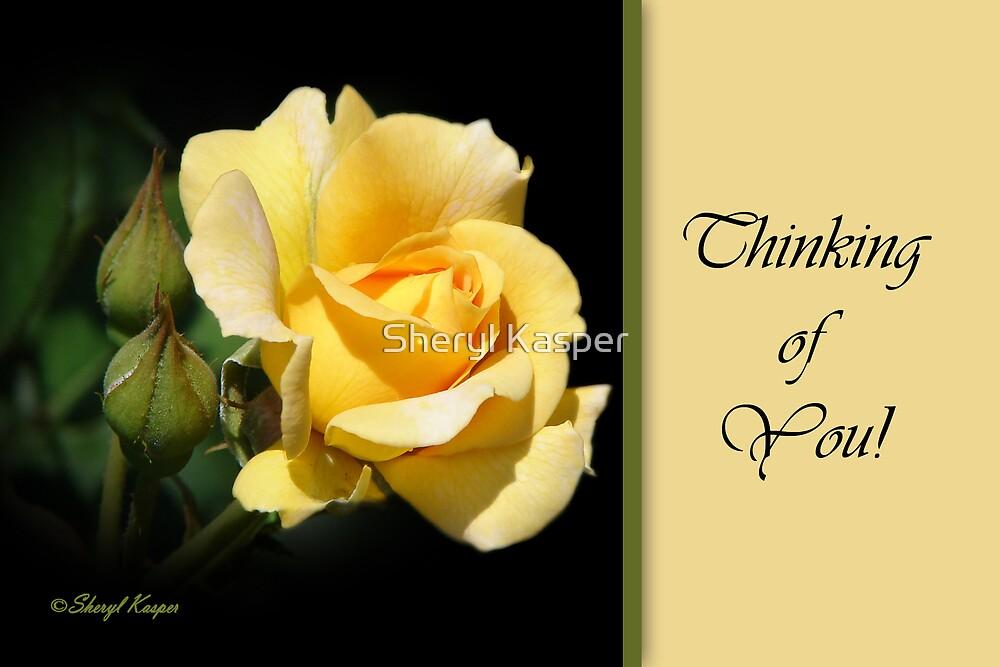 Thinking of You - Yellow Rose by Sheryl Kasper