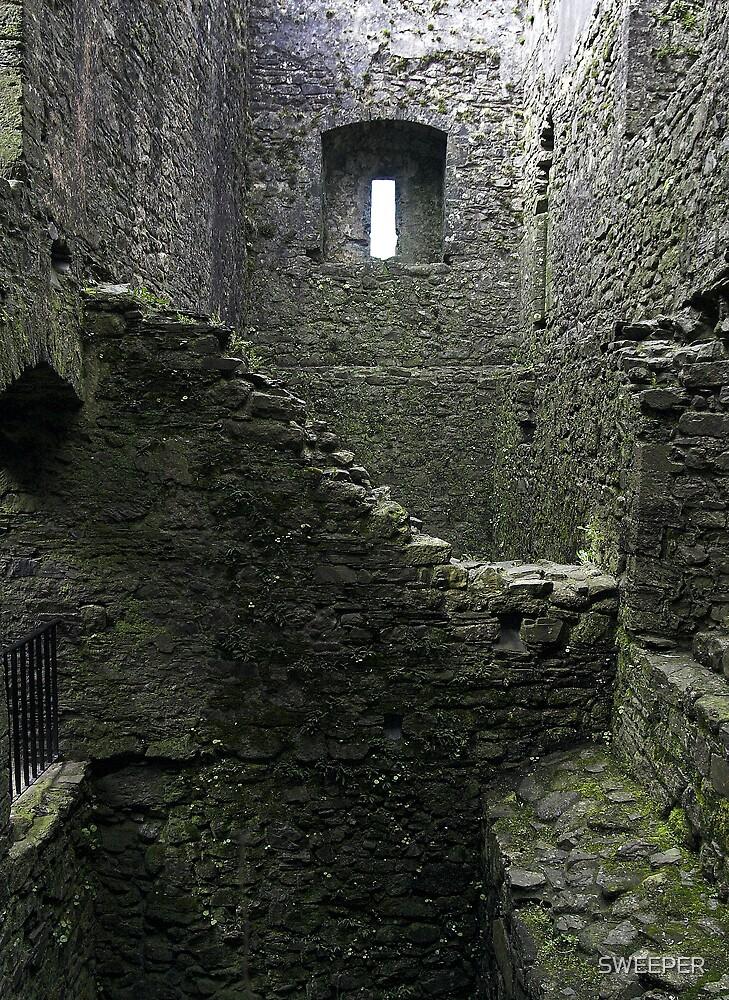 Inside Lydford Castle ruin by SWEEPER