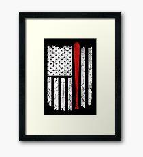 American Flag Baseball Framed Print