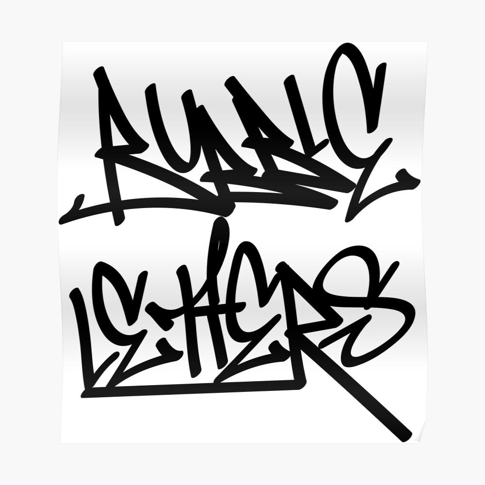 Graffiti letters creator drawings alphabet posters by ariyantcreative redbubble