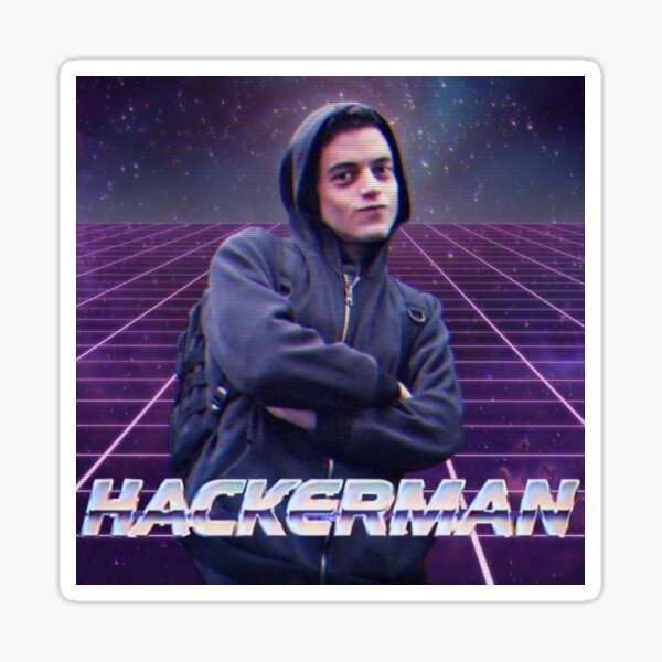 Hackerman - Mr Robot Pegatina