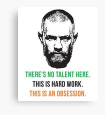 Conor McGregor hard work T-shirt Canvas Print