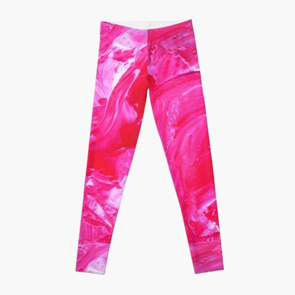 Bright Pink Impasto Leggings