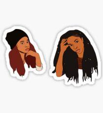 2 Dope Queens Sticker