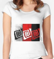 Abstraction modern art illustration 21 Women's Fitted Scoop T-Shirt