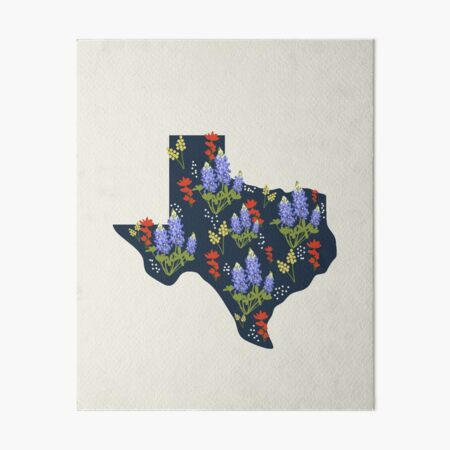 The Lone Star State of Wildflowers Art Board Print